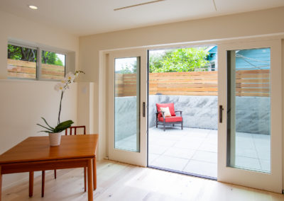 french doors and patio let in light