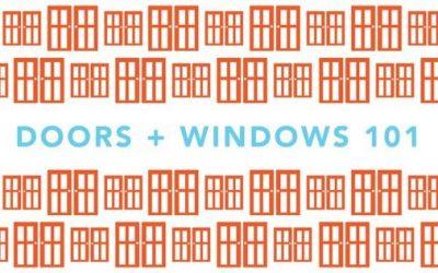 Doors + Windows 101 Workshop: 5/11